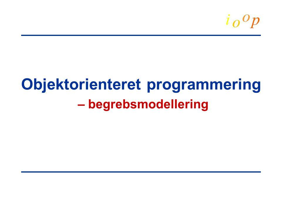 Objektorienteret programmering – begrebsmodellering
