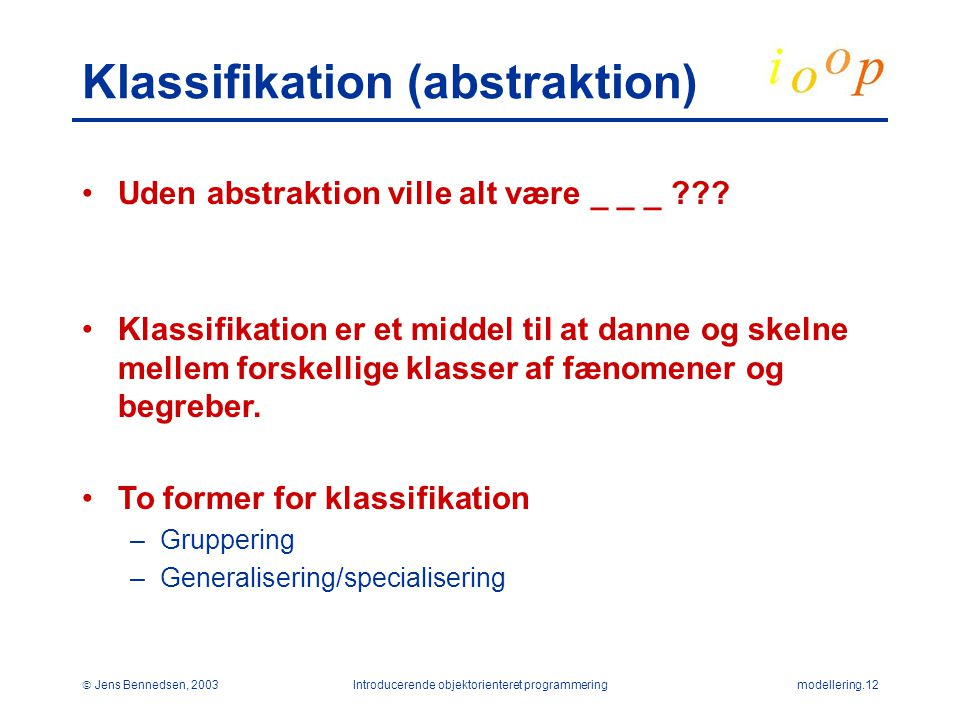 Klassifikation (abstraktion)