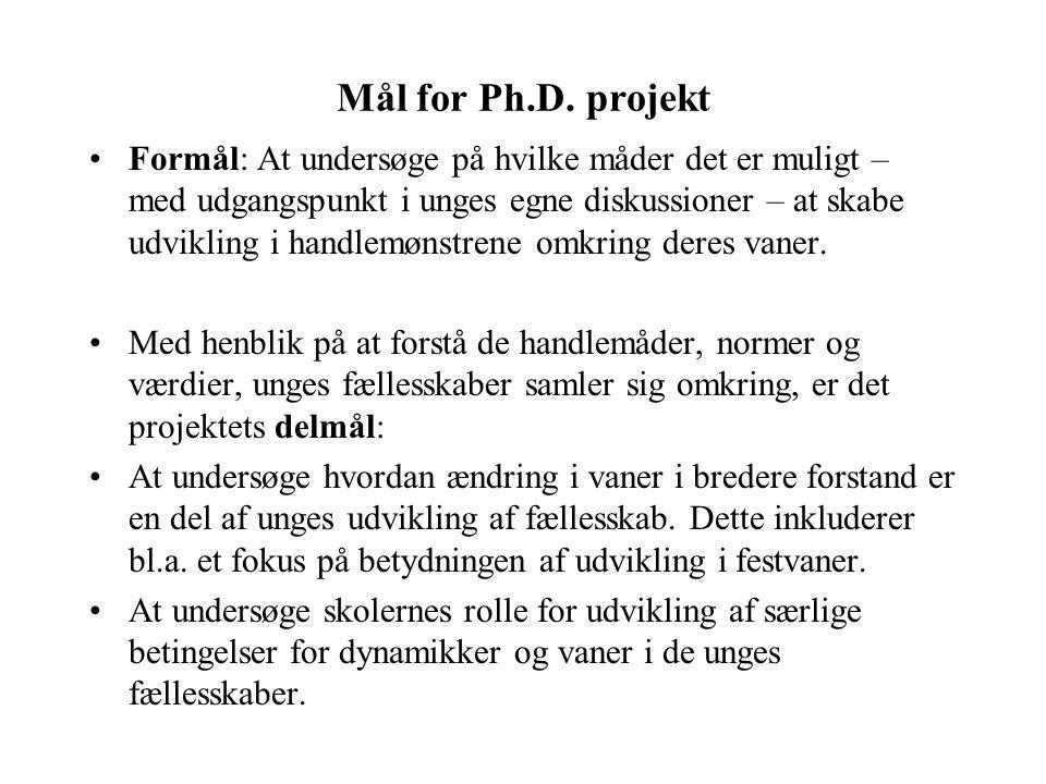 Mål for Ph.D. projekt