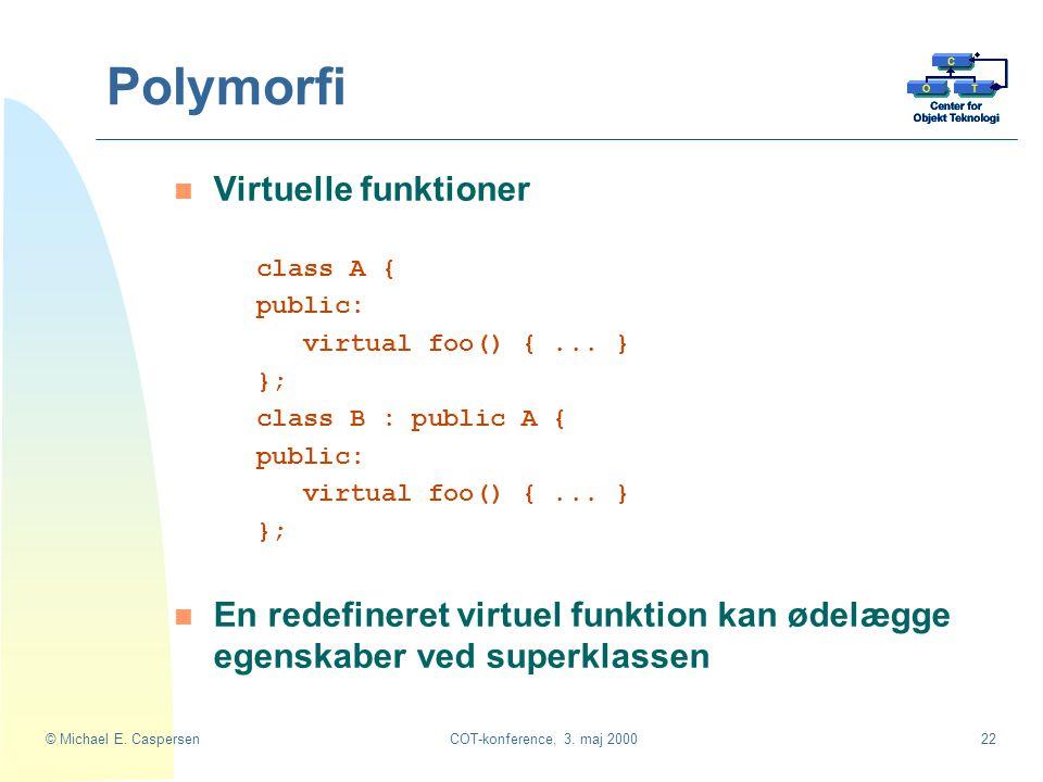 Polymorfi Virtuelle funktioner