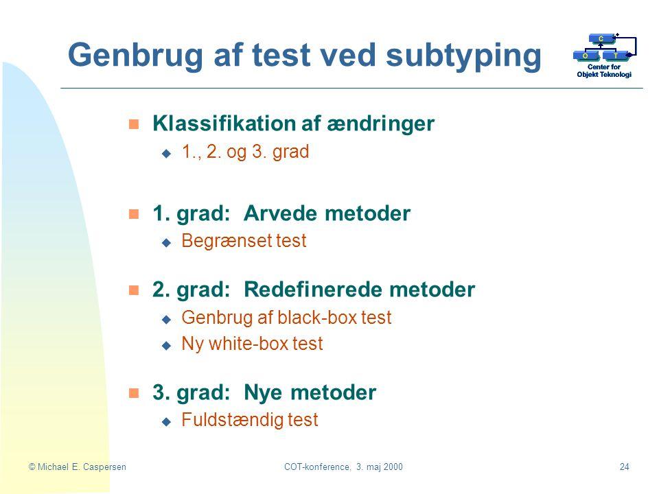 Genbrug af test ved subtyping