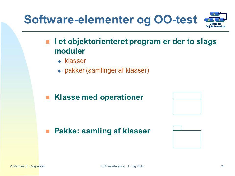Software-elementer og OO-test