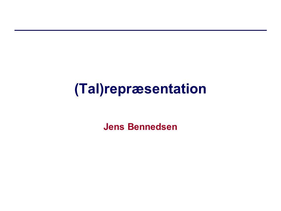 (Tal)repræsentation Jens Bennedsen