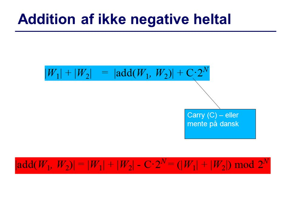 Addition af ikke negative heltal