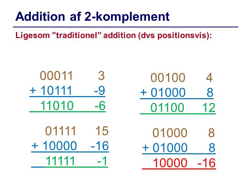 Addition af 2-komplement
