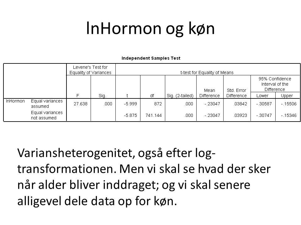lnHormon og køn