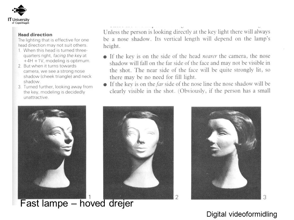 Fast lampe – hoved drejer