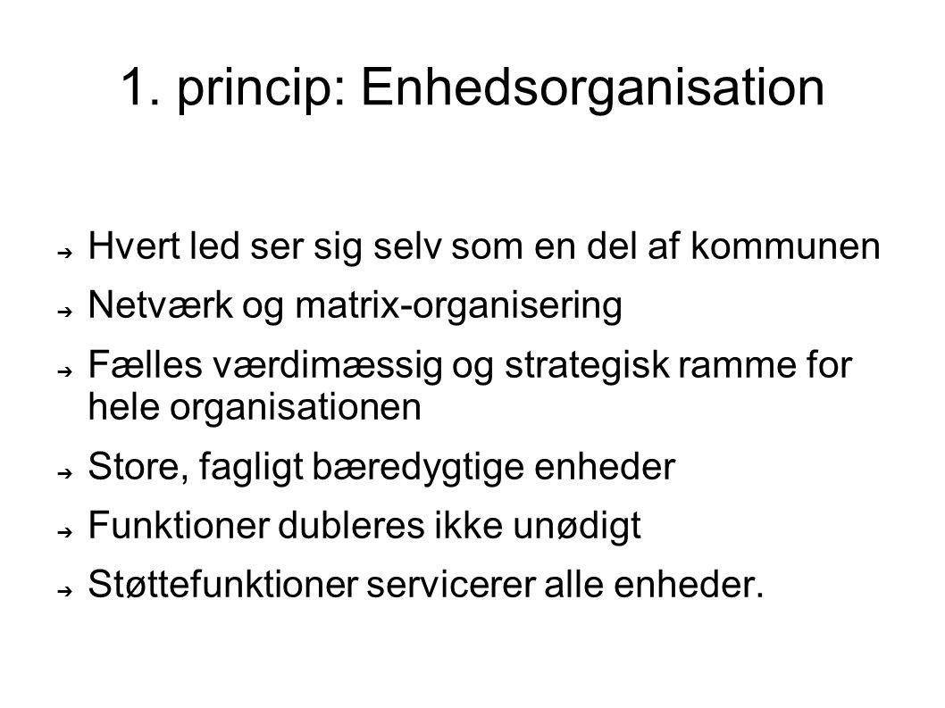 1. princip: Enhedsorganisation