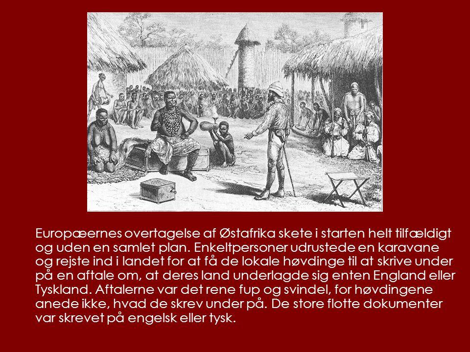 Europæernes overtagelse af Østafrika skete i starten helt tilfældigt og uden en samlet plan.