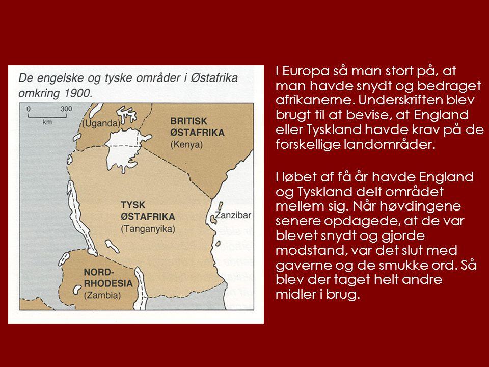 I Europa så man stort på, at man havde snydt og bedraget afrikanerne