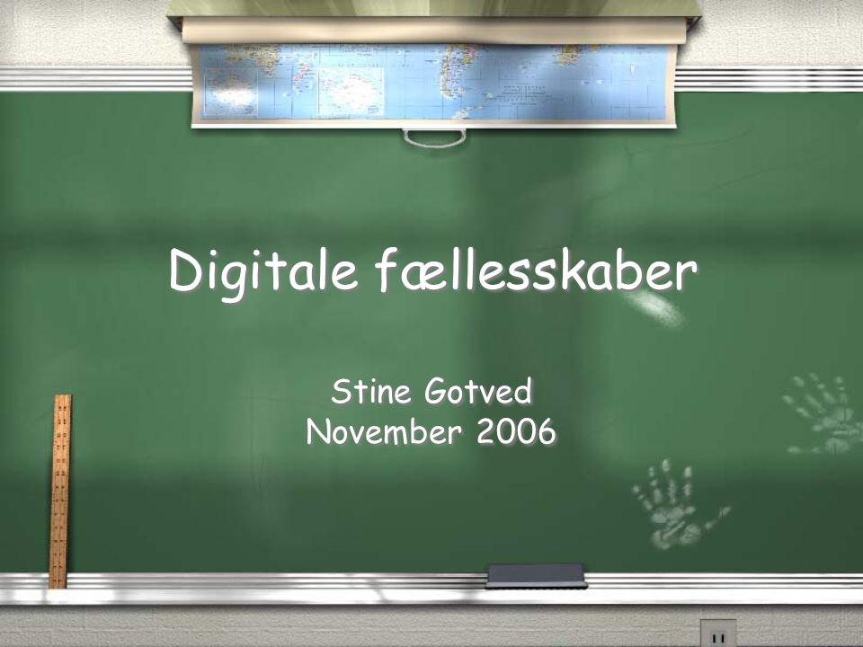 Digitale fællesskaber
