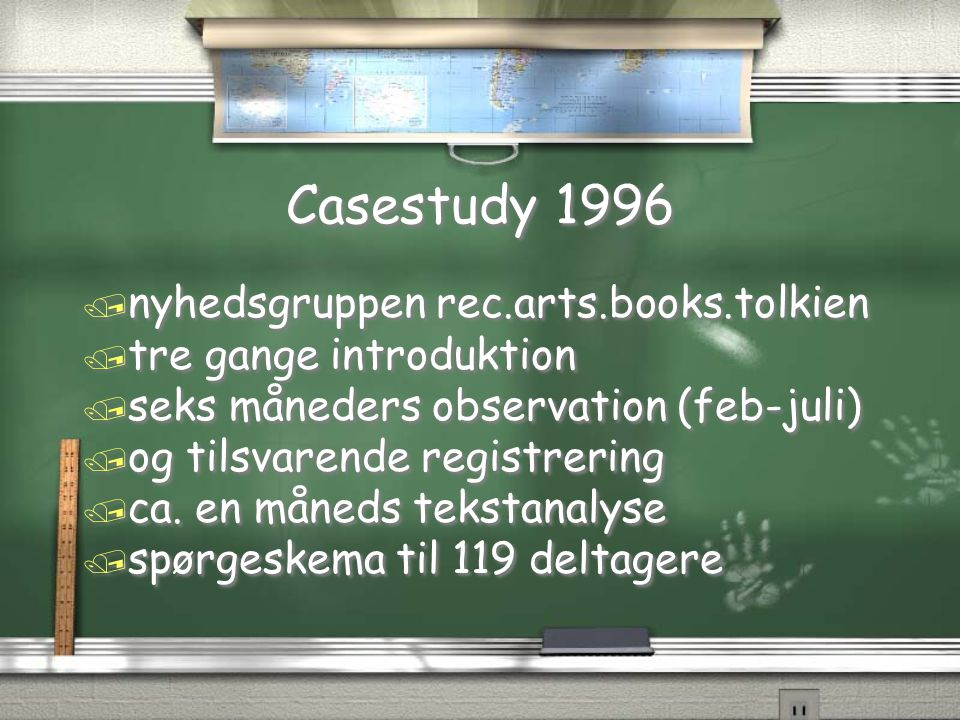 Casestudy 1996 nyhedsgruppen rec.arts.books.tolkien