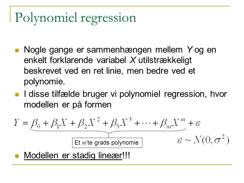 Polynomiel regression