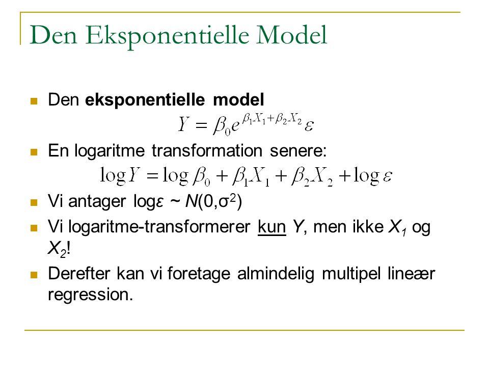 Den Eksponentielle Model