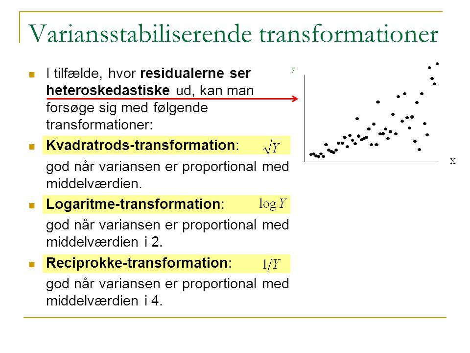 Variansstabiliserende transformationer
