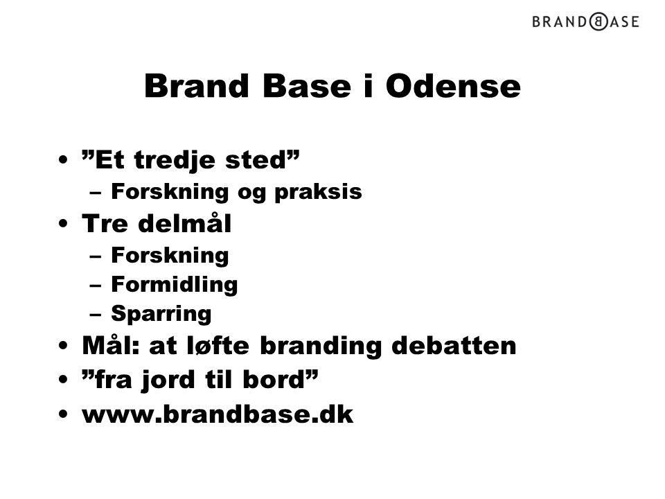 Brand Base i Odense Et tredje sted Tre delmål