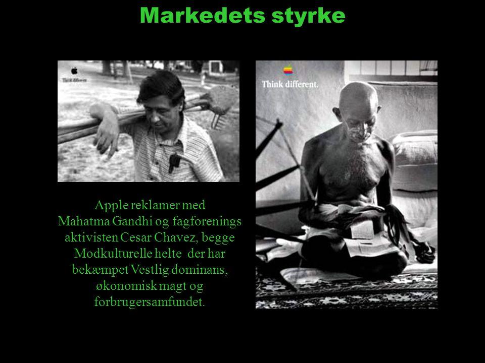 Markedets styrke Apple reklamer med Mahatma Gandhi og fagforenings