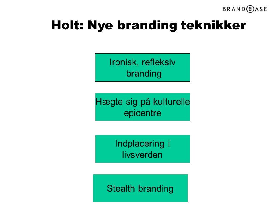 Holt: Nye branding teknikker
