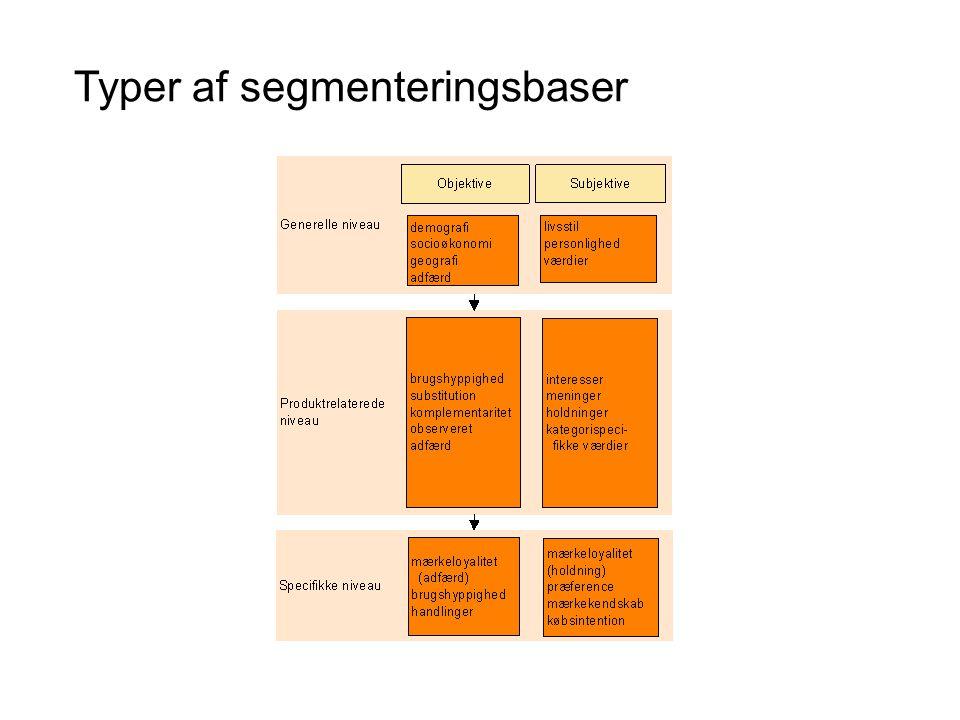 Typer af segmenteringsbaser