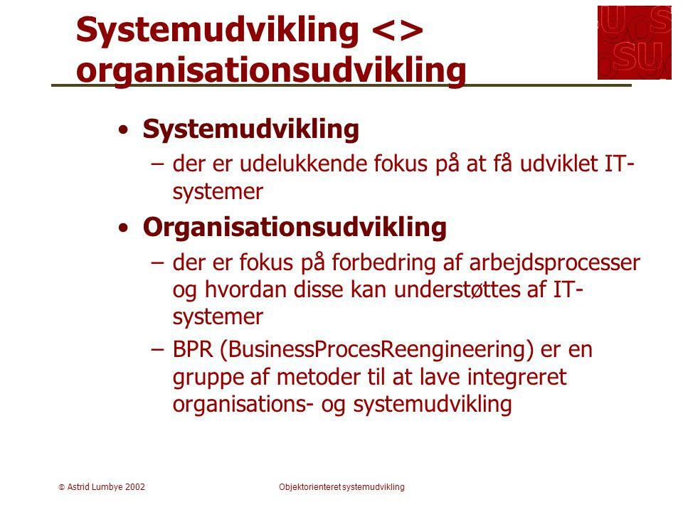 Systemudvikling <> organisationsudvikling