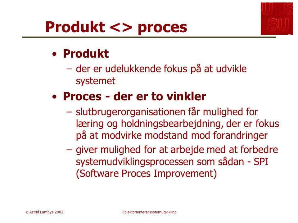 Produkt <> proces