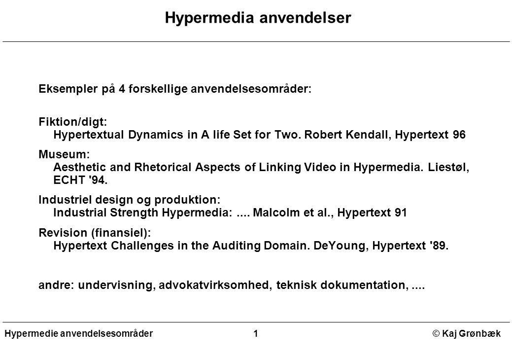 Hypermedia anvendelser