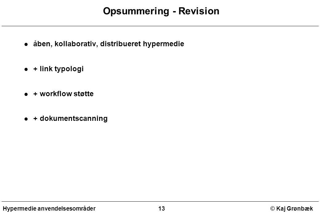 Opsummering - Revision