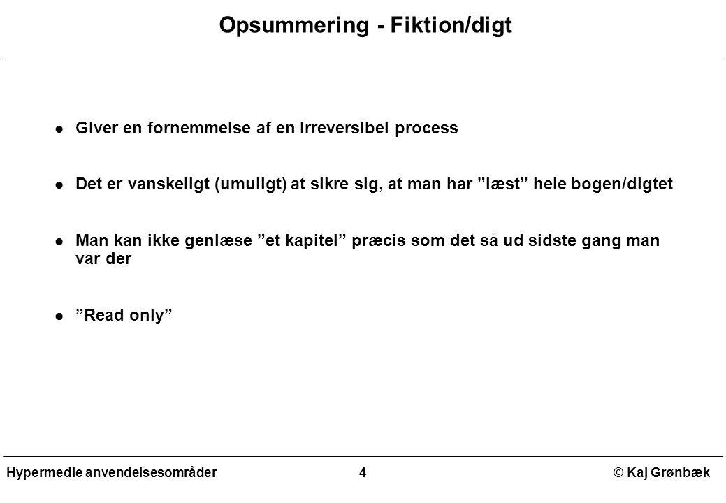 Opsummering - Fiktion/digt
