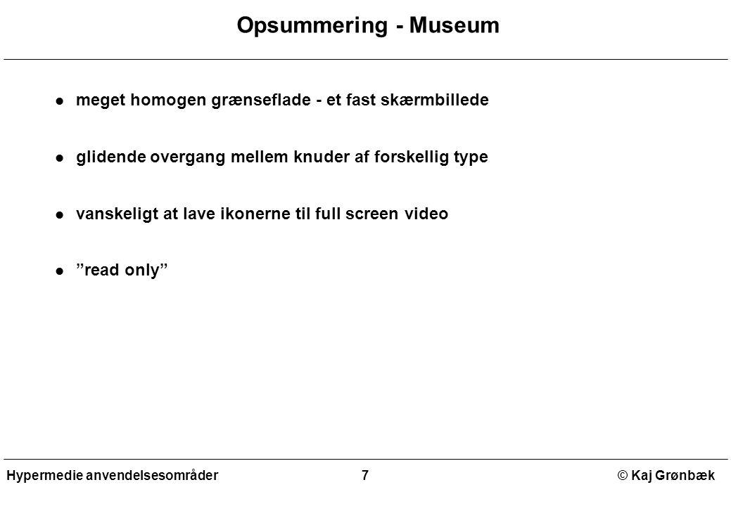 Opsummering - Museum meget homogen grænseflade - et fast skærmbillede