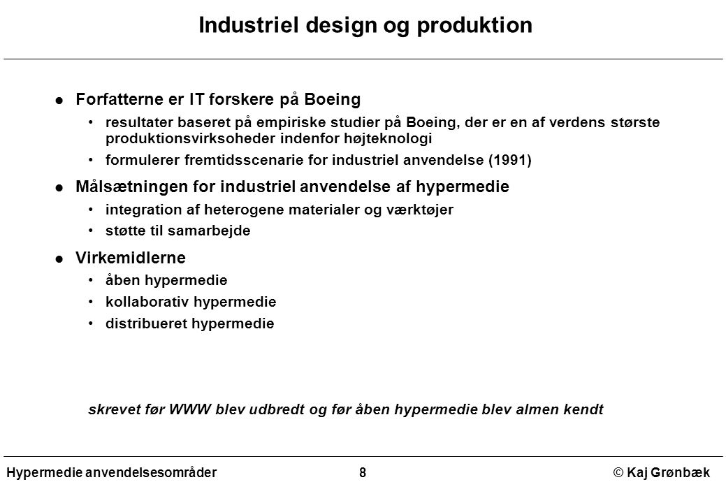 Industriel design og produktion
