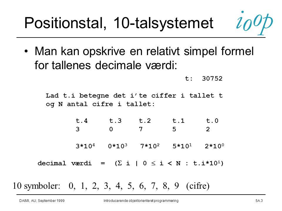Positionstal, 10-talsystemet