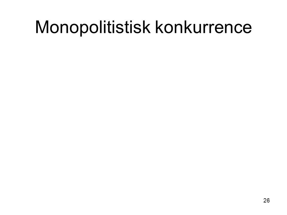 Monopolitistisk konkurrence