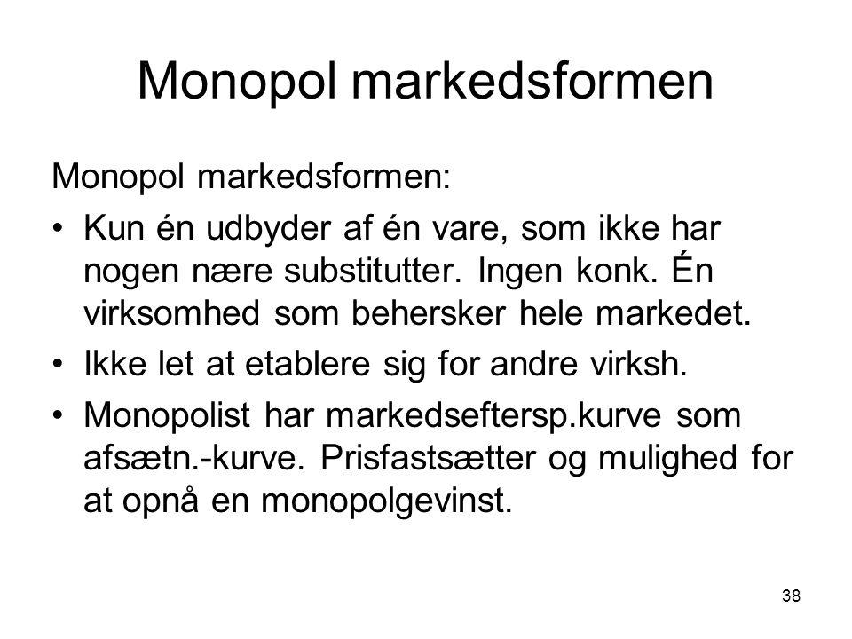 Monopol markedsformen