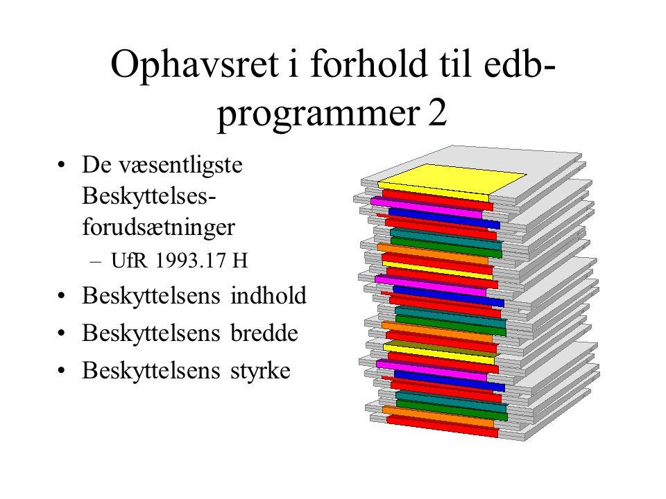 Ophavsret i forhold til edb-programmer 2
