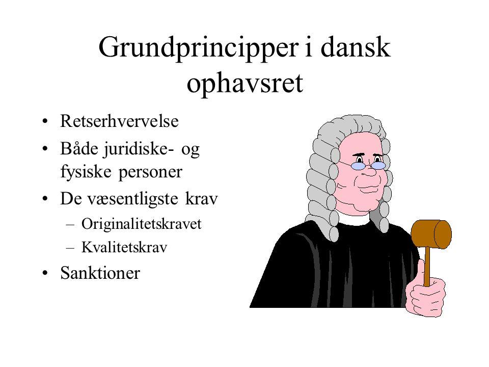 Grundprincipper i dansk ophavsret
