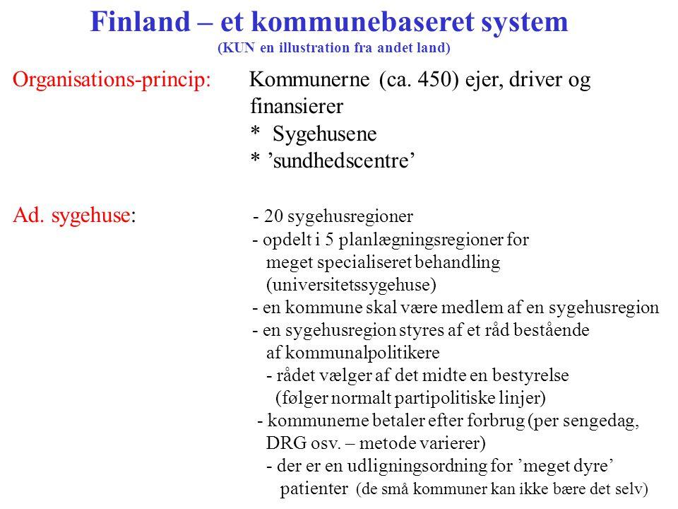 Finland – et kommunebaseret system
