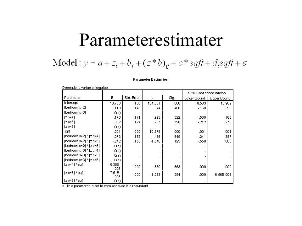 Parameterestimater