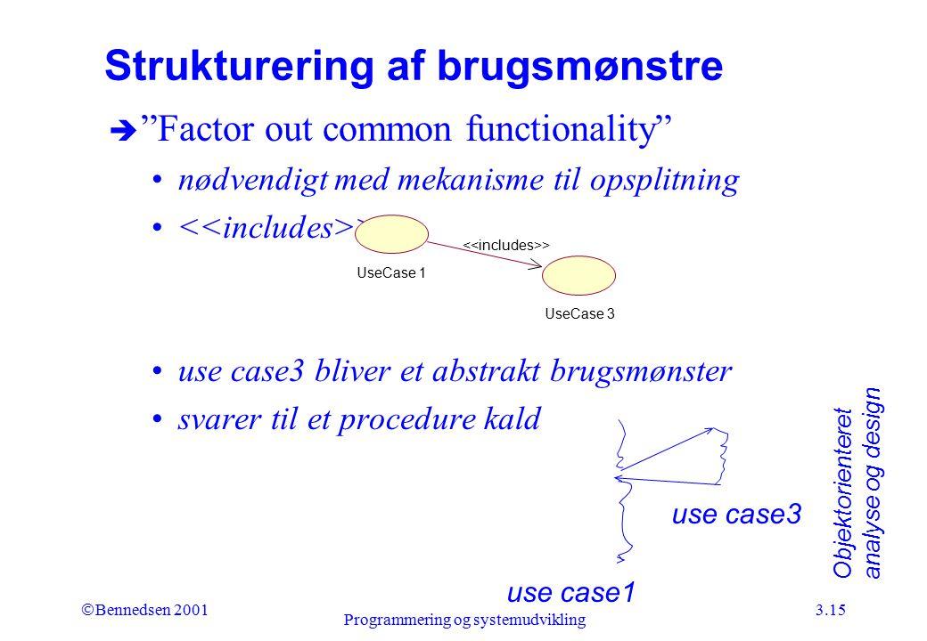 Strukturering af brugsmønstre