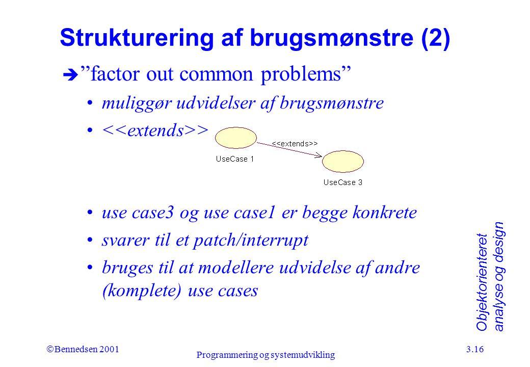 Strukturering af brugsmønstre (2)