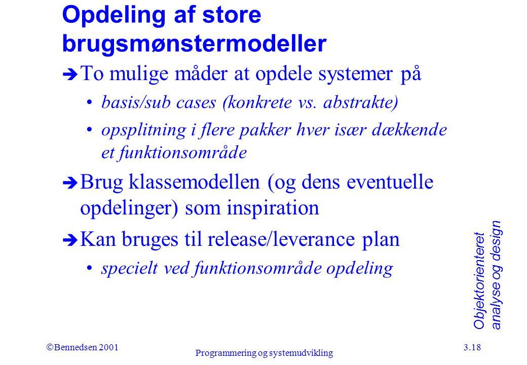 Opdeling af store brugsmønstermodeller
