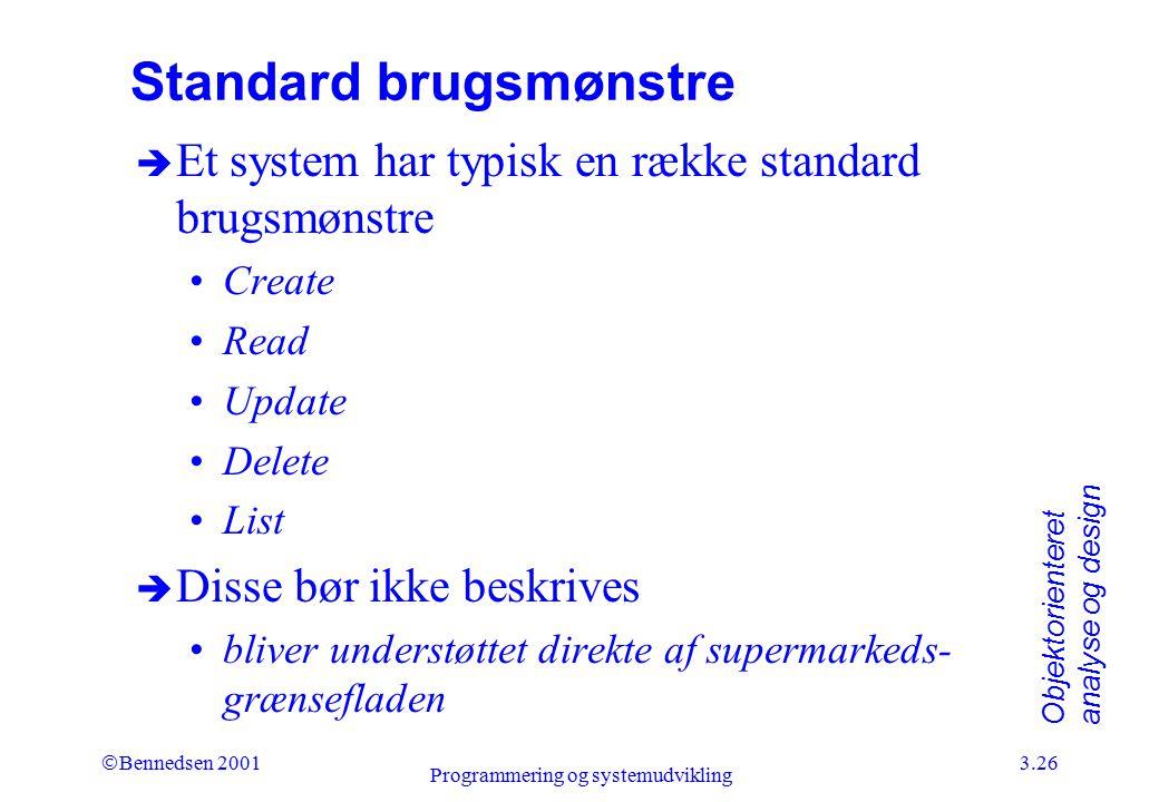 Standard brugsmønstre