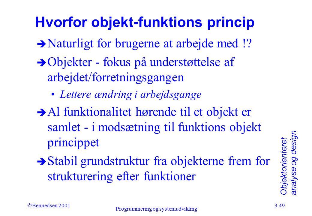 Hvorfor objekt-funktions princip