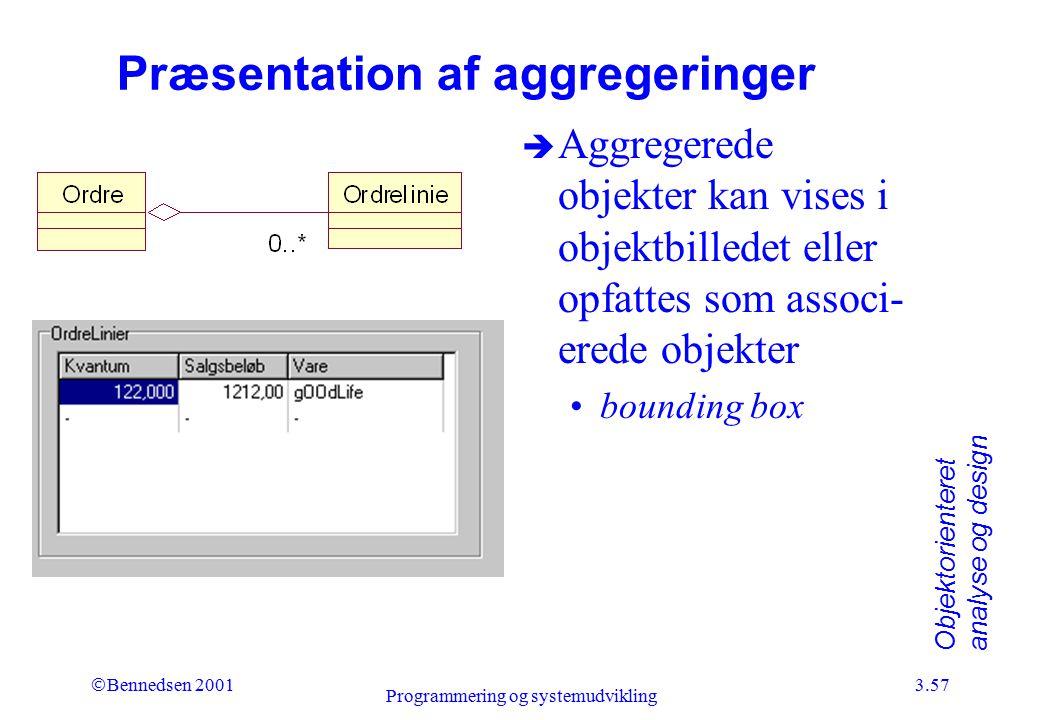 Præsentation af aggregeringer