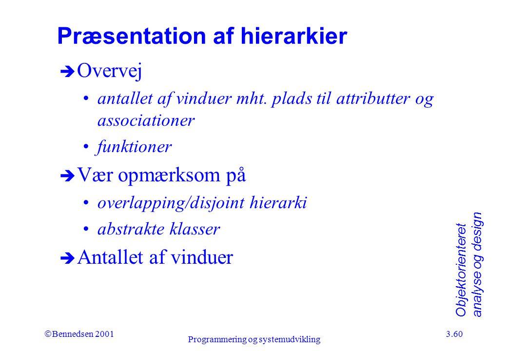 Præsentation af hierarkier