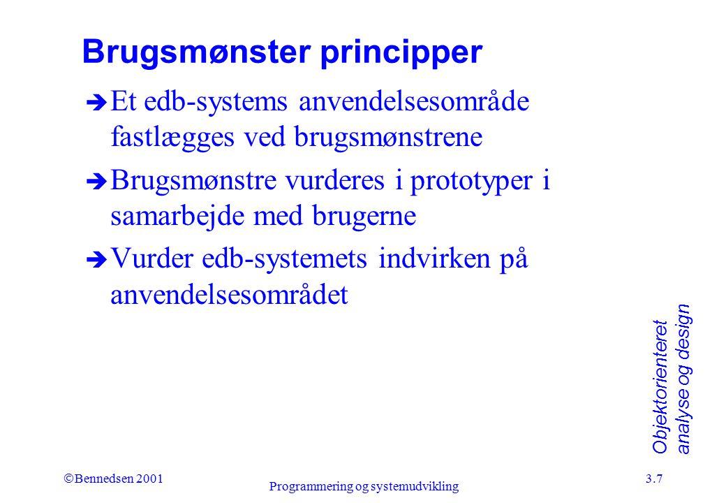 Brugsmønster principper