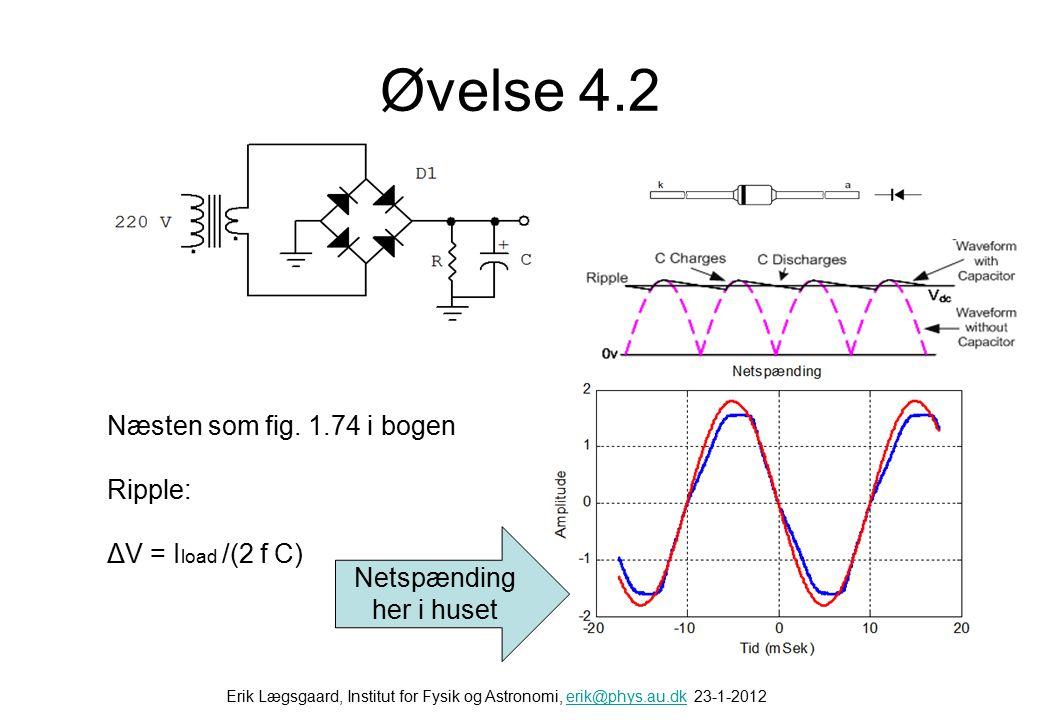 Øvelse 4.1 Firpoler Z1 Spændingsdeler Z2 V1 V2 High pass filter