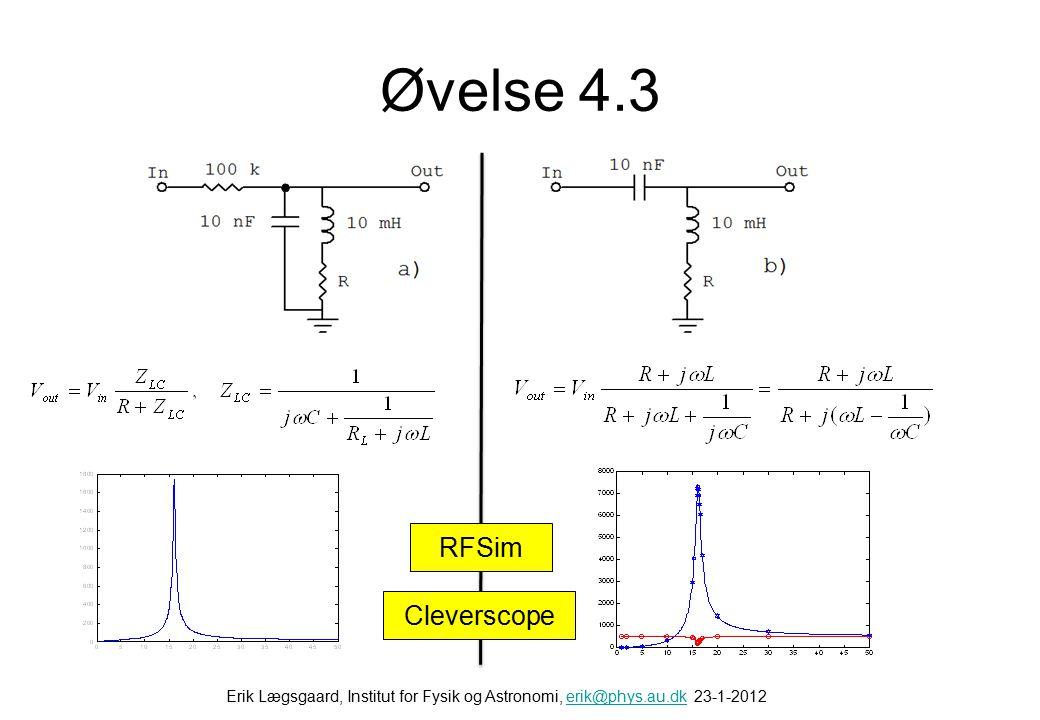 Øvelse 4.2 Næsten som fig. 1.74 i bogen Ripple: ΔV = Iload /(2 f C)