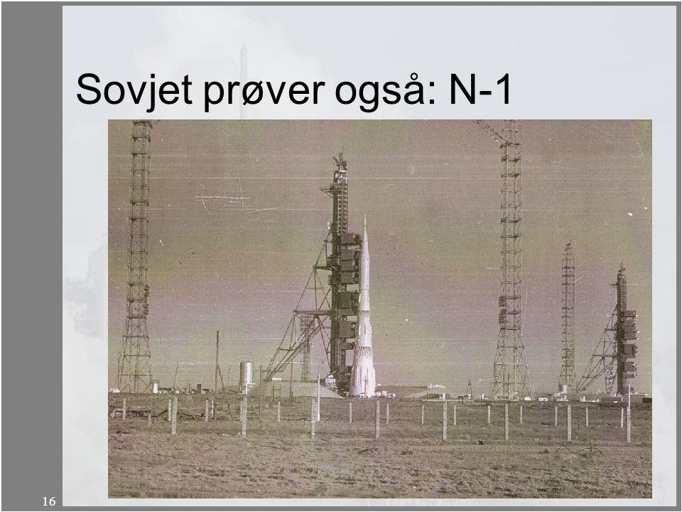 Sovjet prøver også: N-1