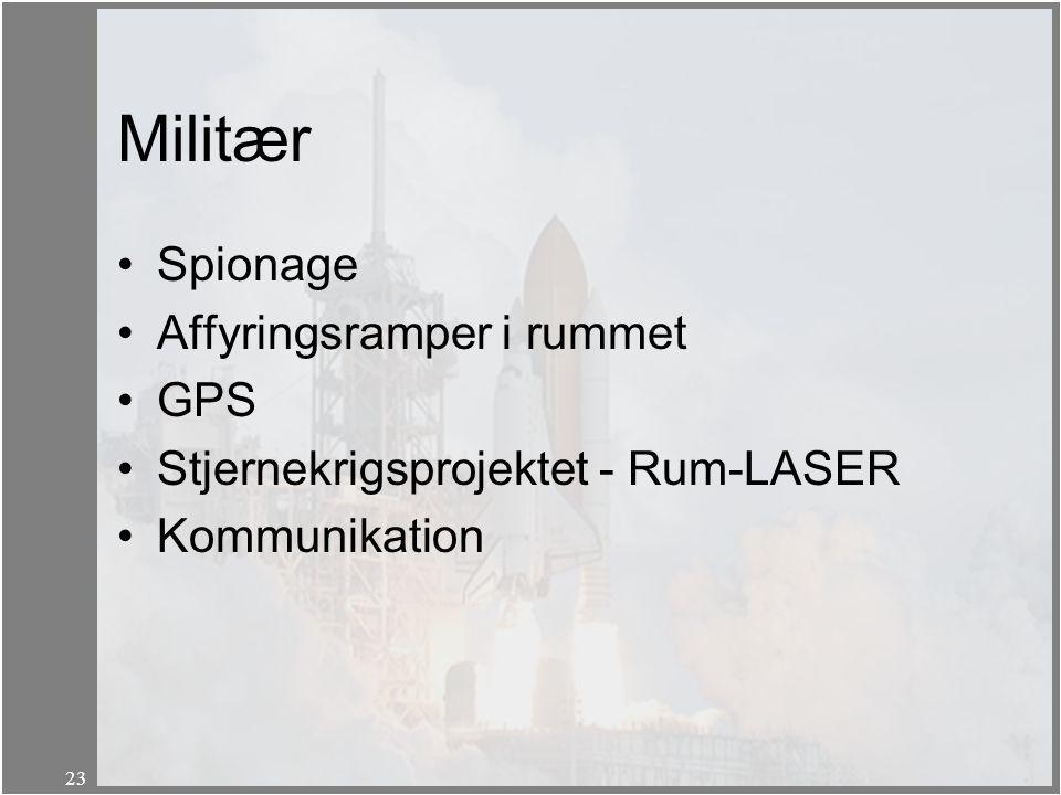Militær Spionage Affyringsramper i rummet GPS
