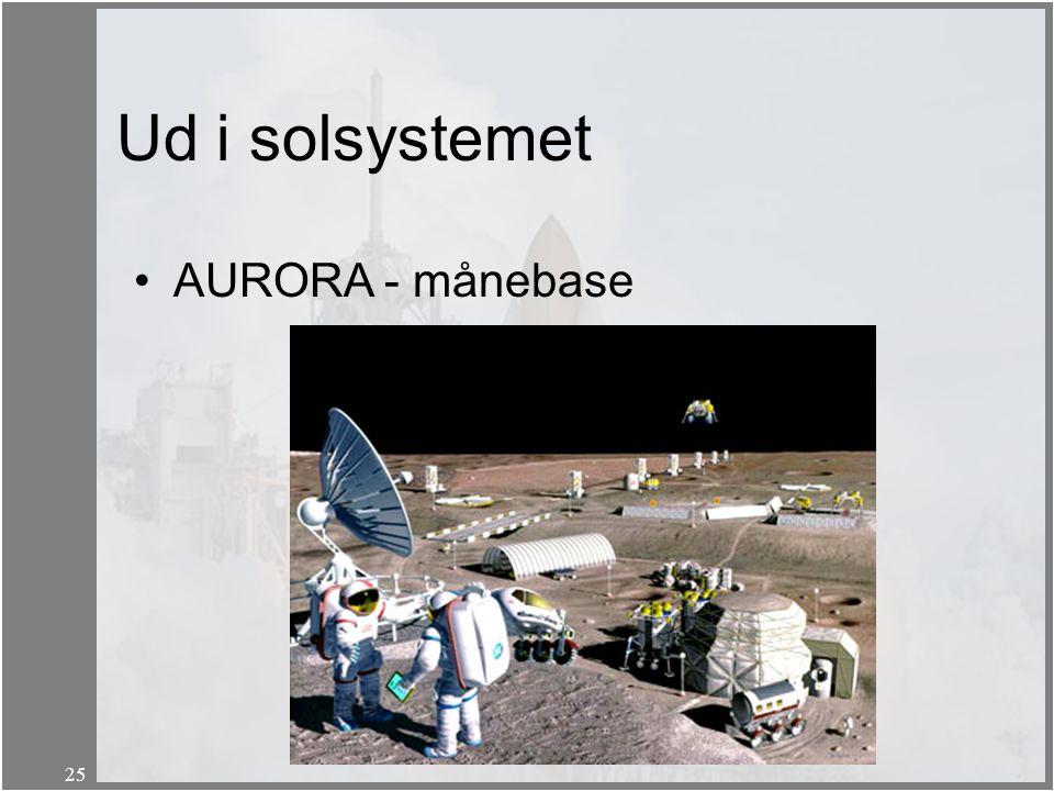 Ud i solsystemet AURORA - månebase